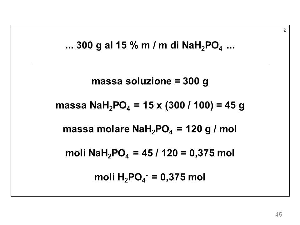 massa molare NaH2PO4 = 120 g / mol