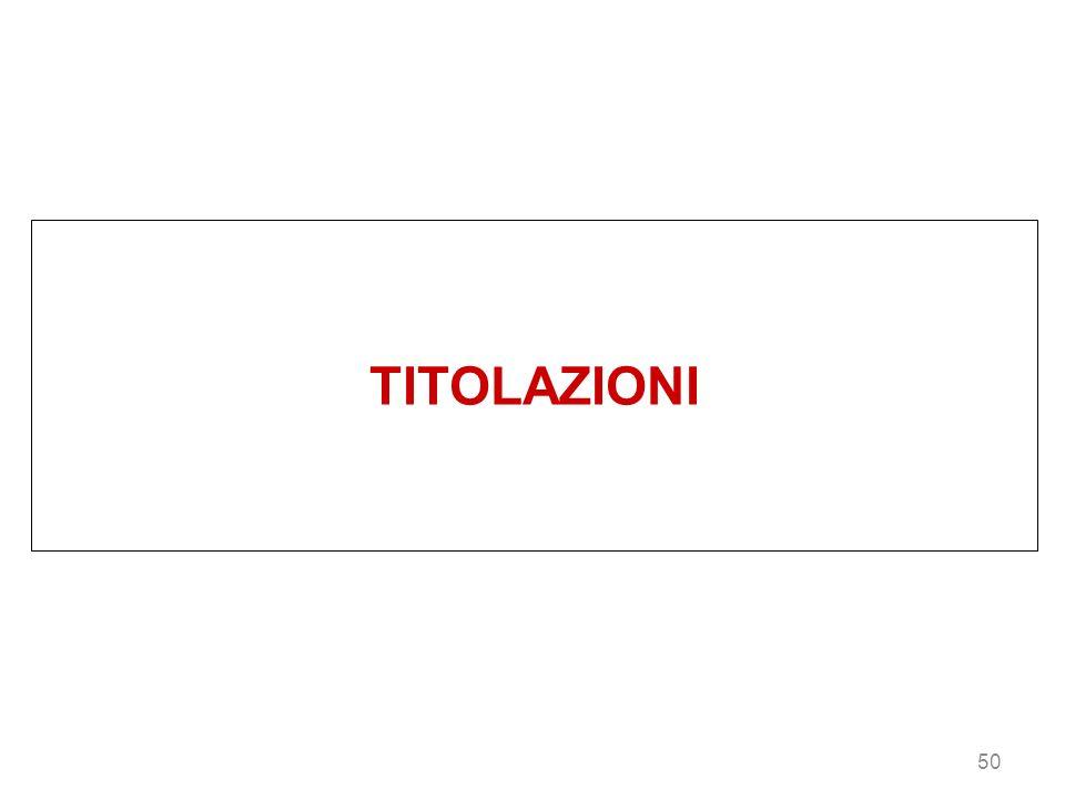 TITOLAZIONI 50