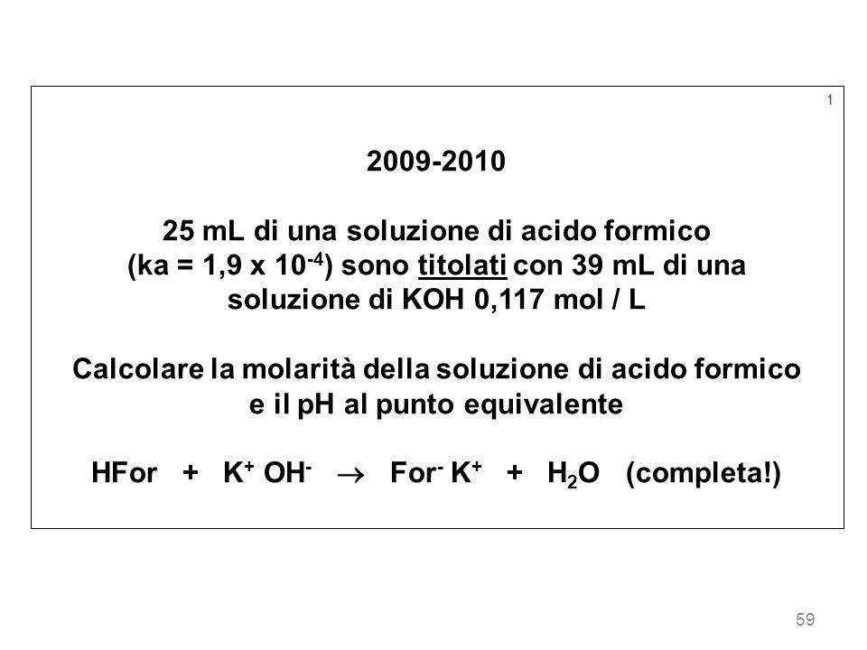 25 mL di una soluzione di acido formico