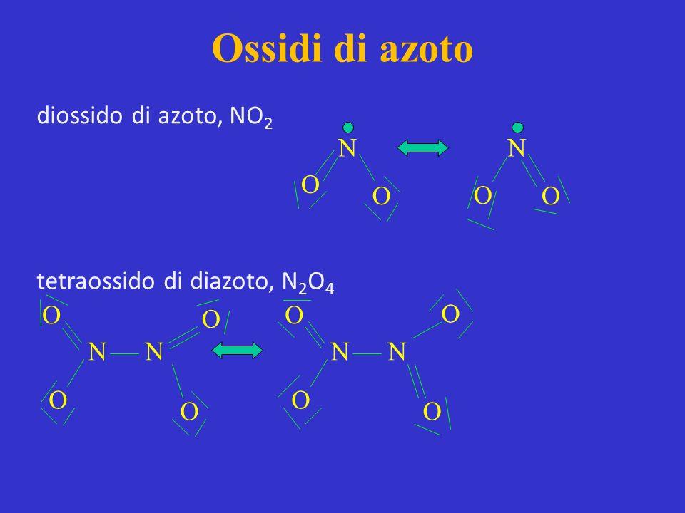 Ossidi di azoto diossido di azoto, NO2 N N O O O O