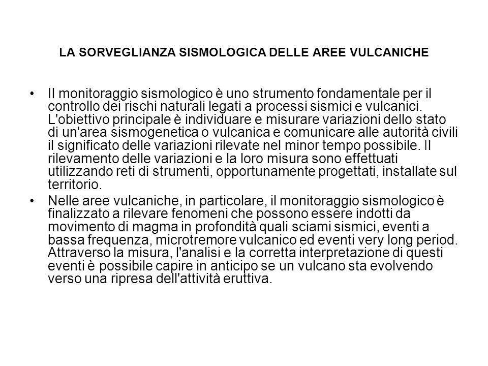 LA SORVEGLIANZA SISMOLOGICA DELLE AREE VULCANICHE