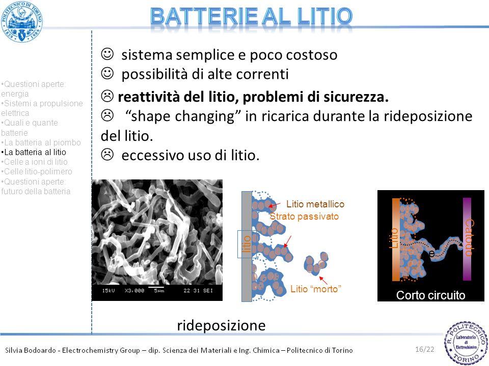 Batterie al litio sistema semplice e poco costoso