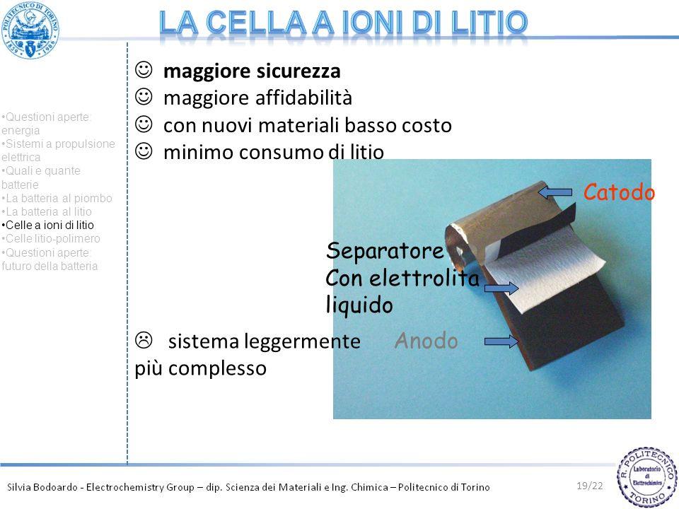 La cella a ioni di litio maggiore sicurezza maggiore affidabilità
