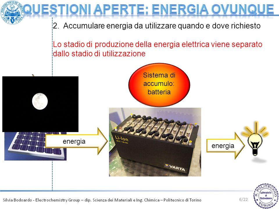Questioni aperte: energia ovunque
