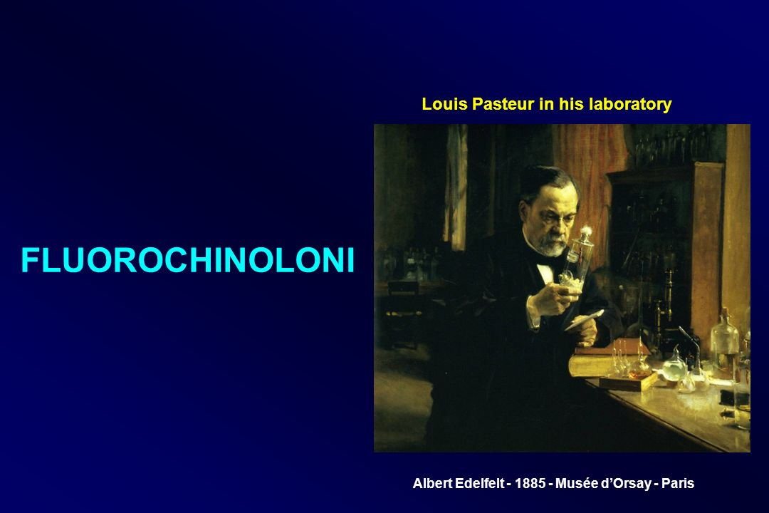 Louis Pasteur in his laboratory