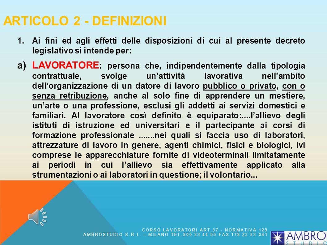 Articolo 2 - Definizioni