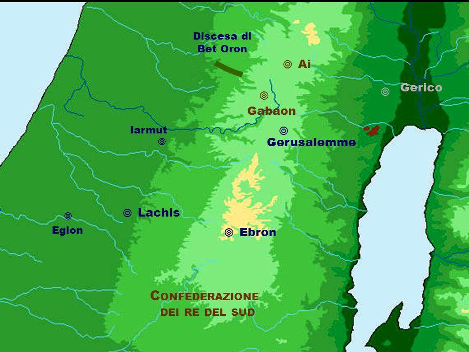 Confederazione dei re del sud  Ai Gerico   Gabaon  Gerusalemme