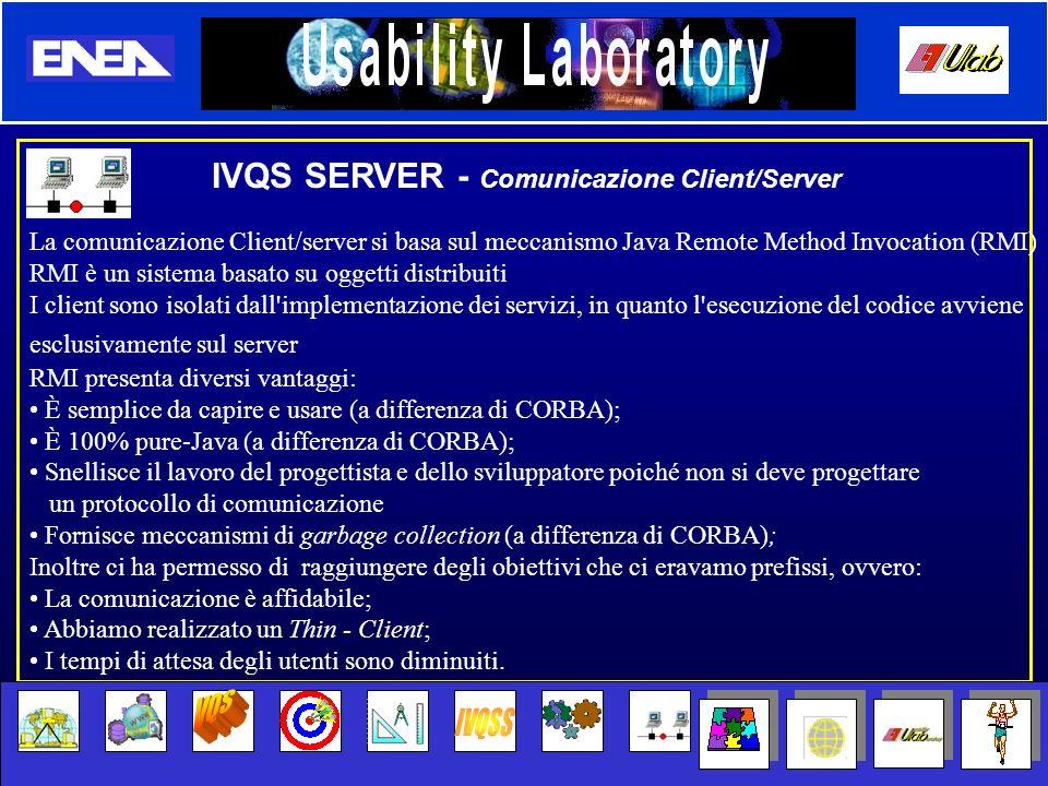 VQS IVQSS IVQS SERVER - Comunicazione Client/Server