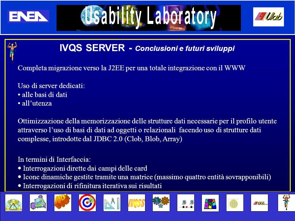 VQS IVQSS IVQS SERVER - Conclusioni e futuri sviluppi