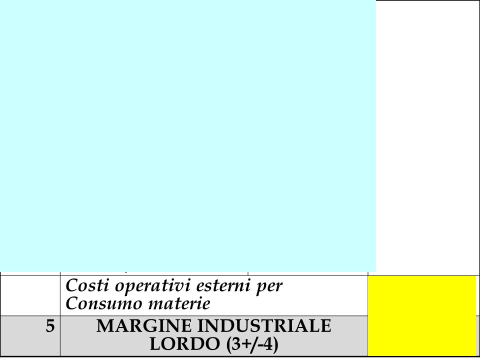 MARGINE INDUSTRIALE LORDO (3+/-4)