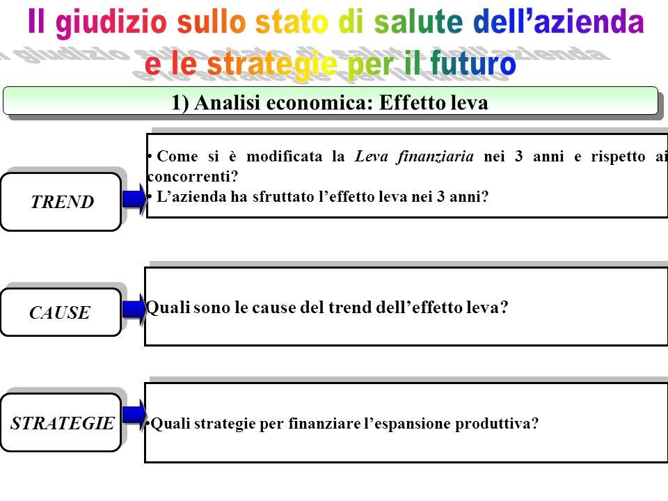 1) Analisi economica: Effetto leva