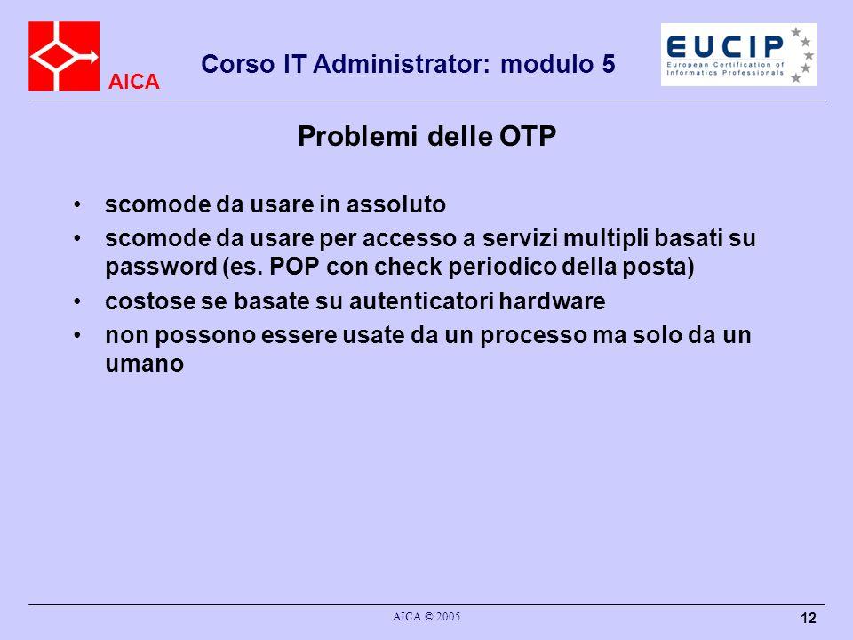 Problemi delle OTP scomode da usare in assoluto