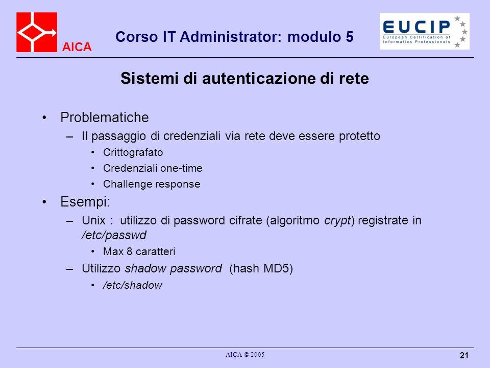 Sistemi di autenticazione di rete