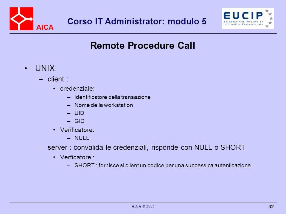 Remote Procedure Call UNIX: client :