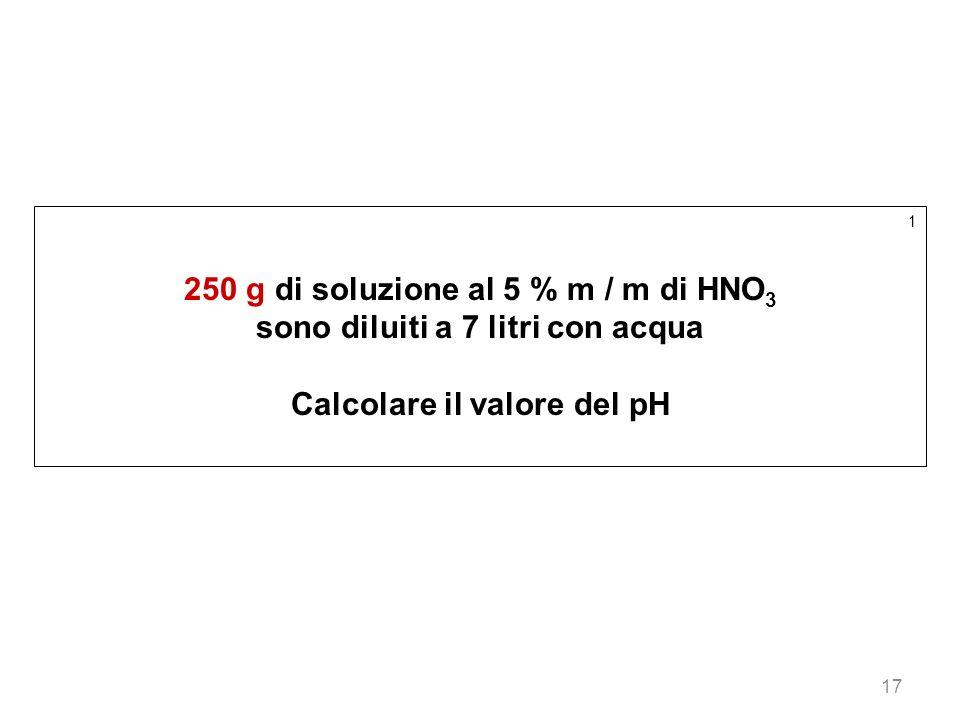 250 g di soluzione al 5 % m / m di HNO3
