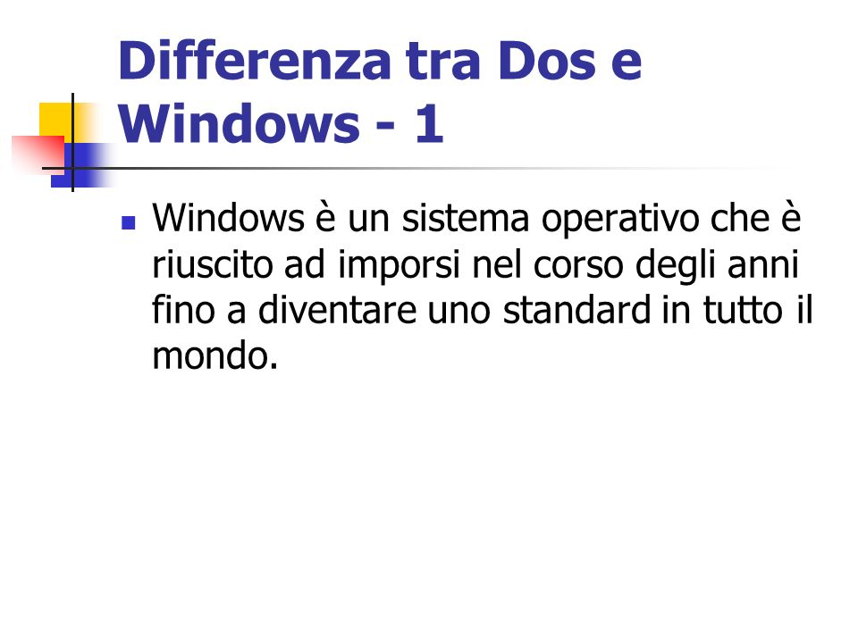 Differenza tra Dos e Windows - 1