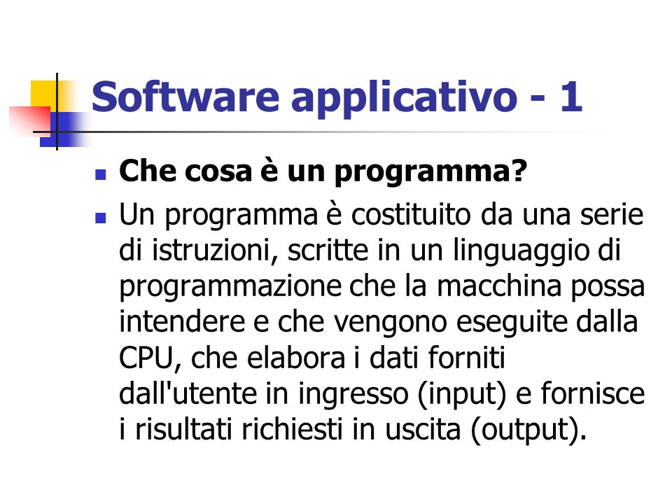 Software applicativo - 1