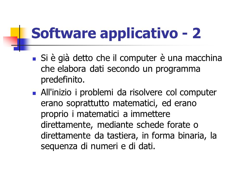 Software applicativo - 2
