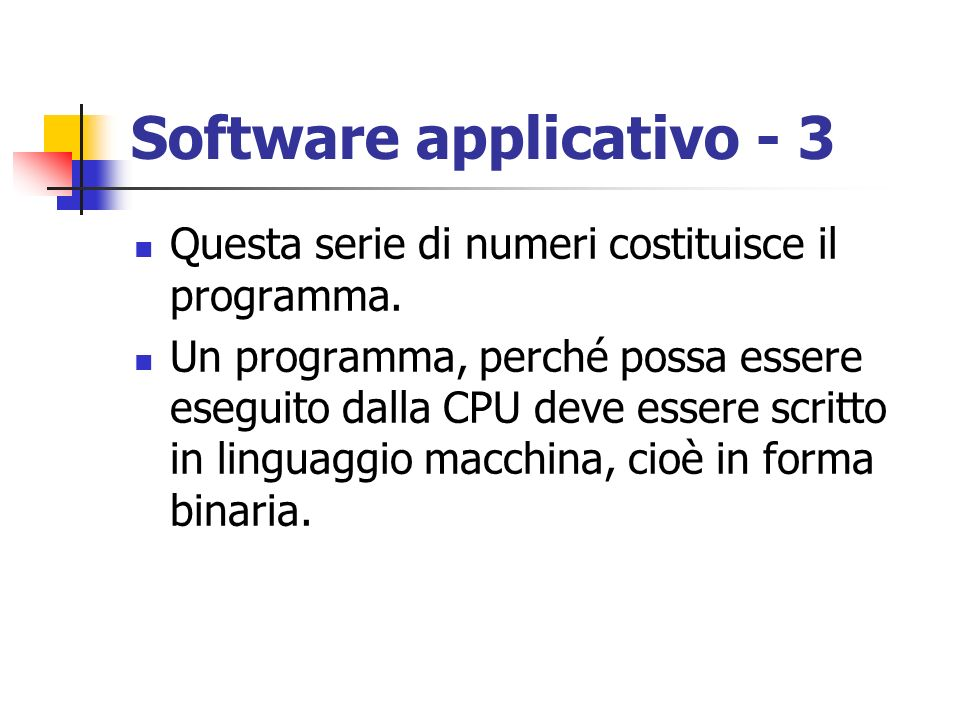 Software applicativo - 3