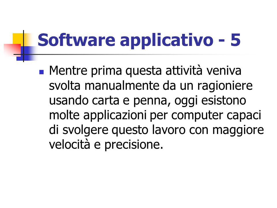 Software applicativo - 5