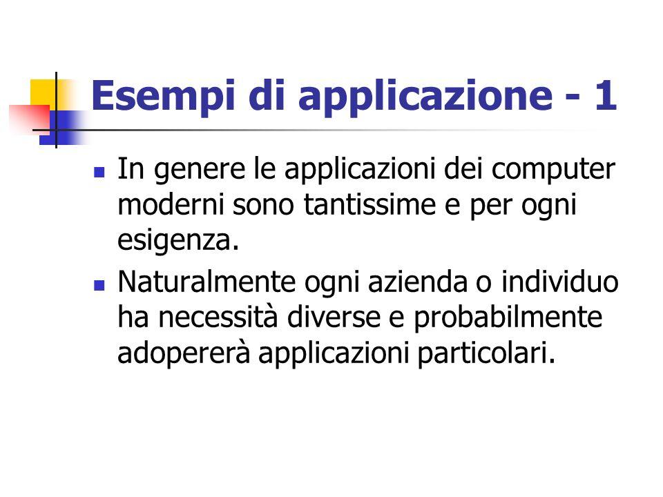 Esempi di applicazione - 1