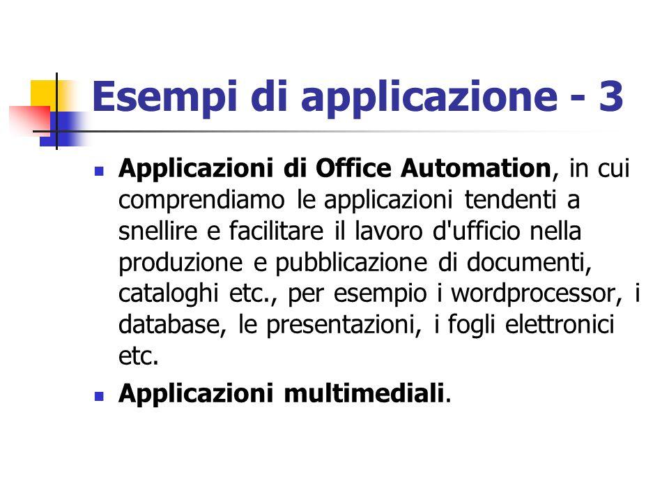 Esempi di applicazione - 3