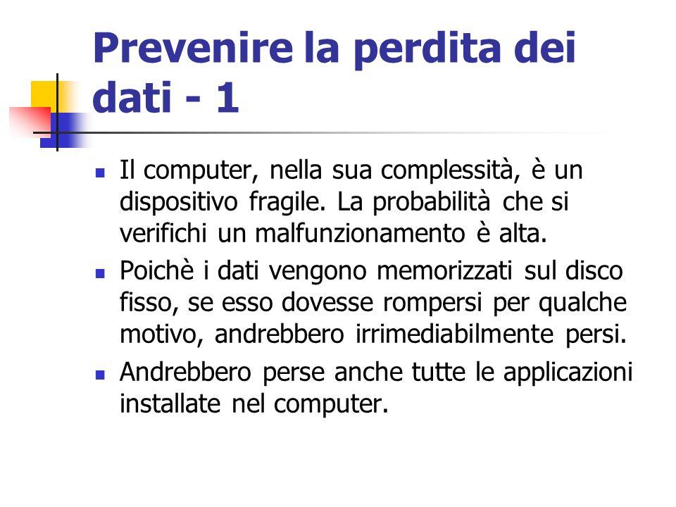 Prevenire la perdita dei dati - 1
