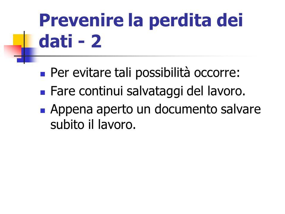 Prevenire la perdita dei dati - 2