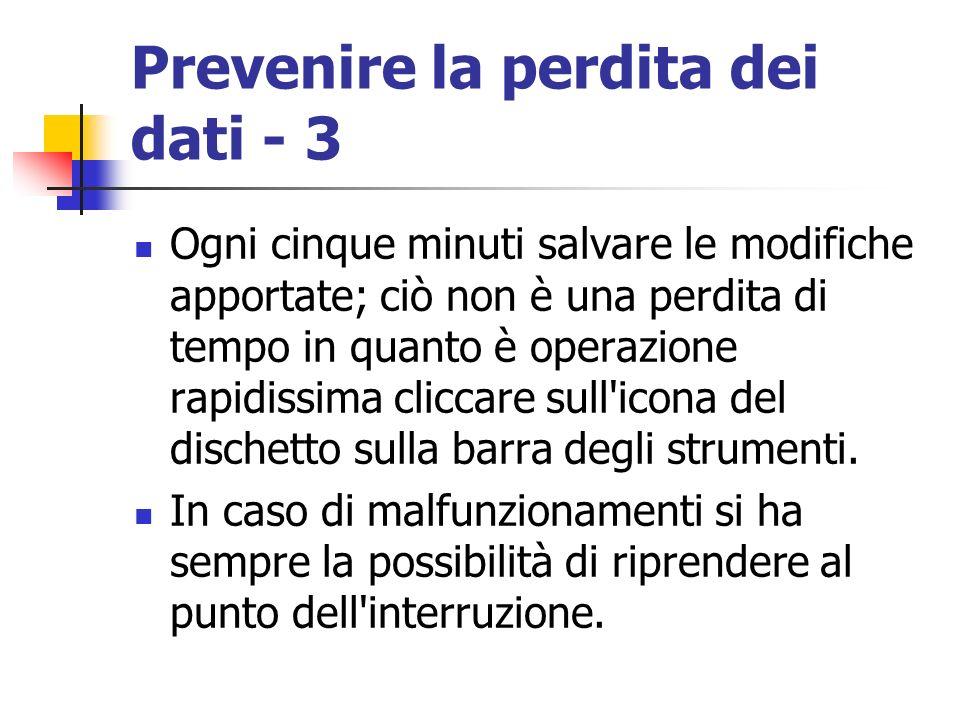 Prevenire la perdita dei dati - 3