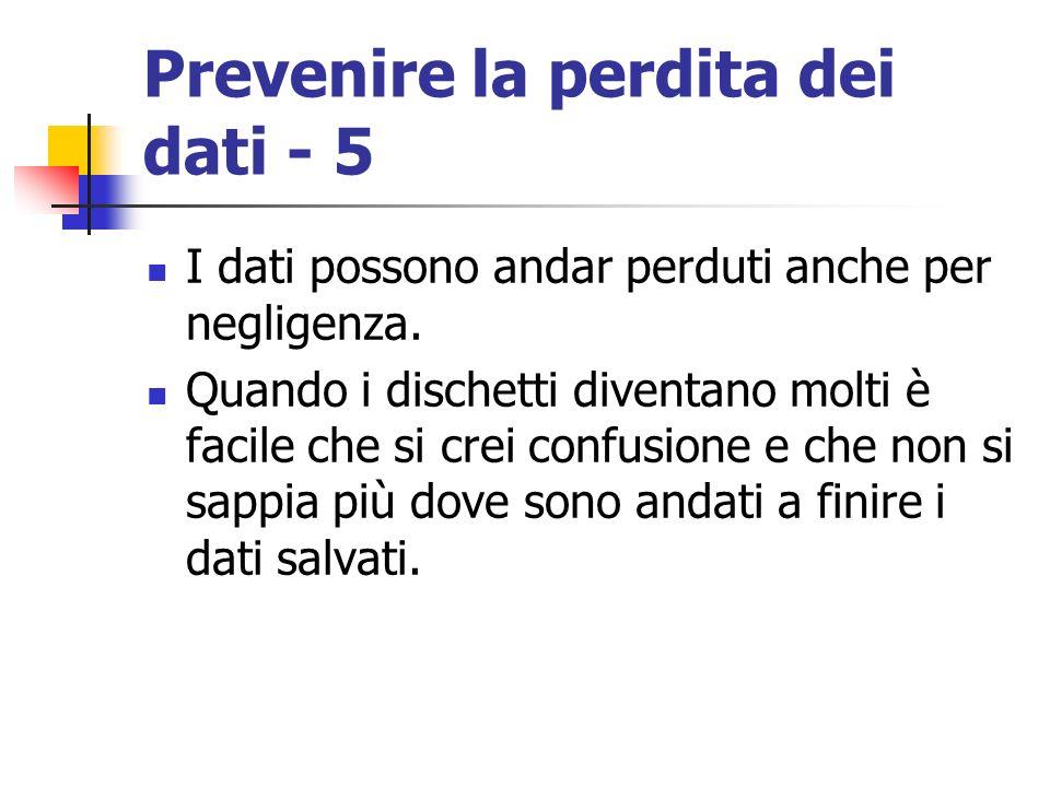 Prevenire la perdita dei dati - 5