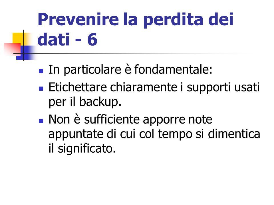 Prevenire la perdita dei dati - 6