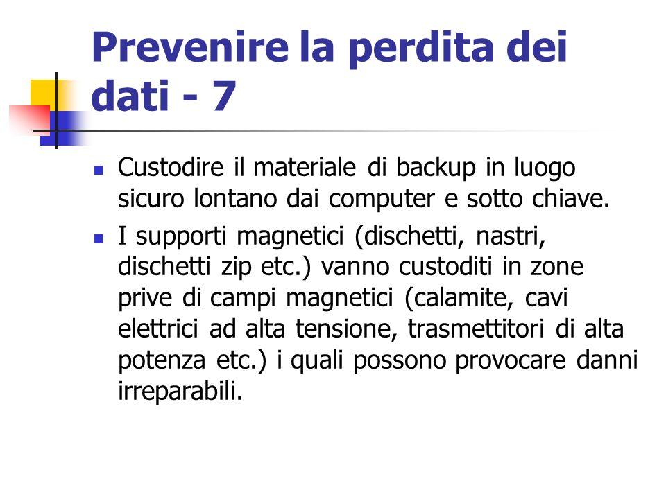 Prevenire la perdita dei dati - 7