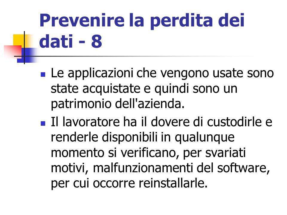Prevenire la perdita dei dati - 8