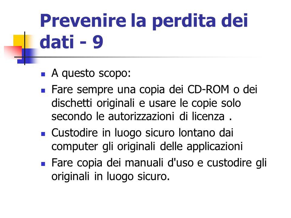 Prevenire la perdita dei dati - 9