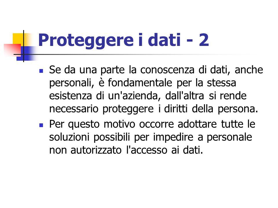 Proteggere i dati - 2