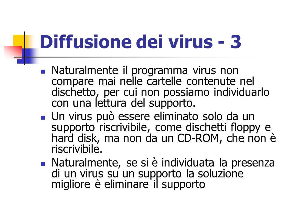 Diffusione dei virus - 3