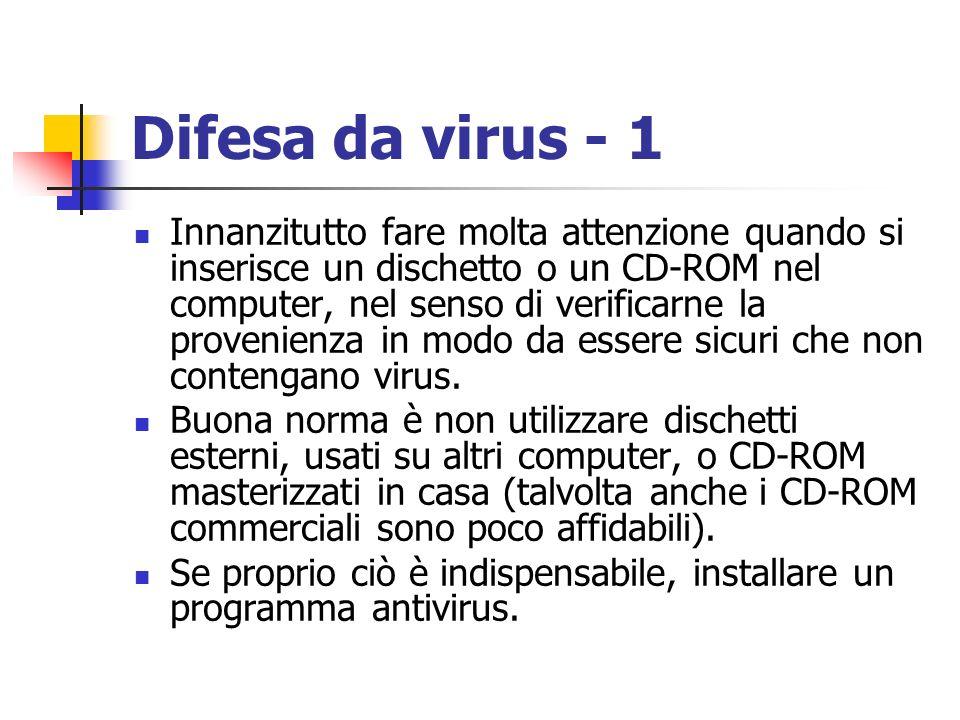 Difesa da virus - 1