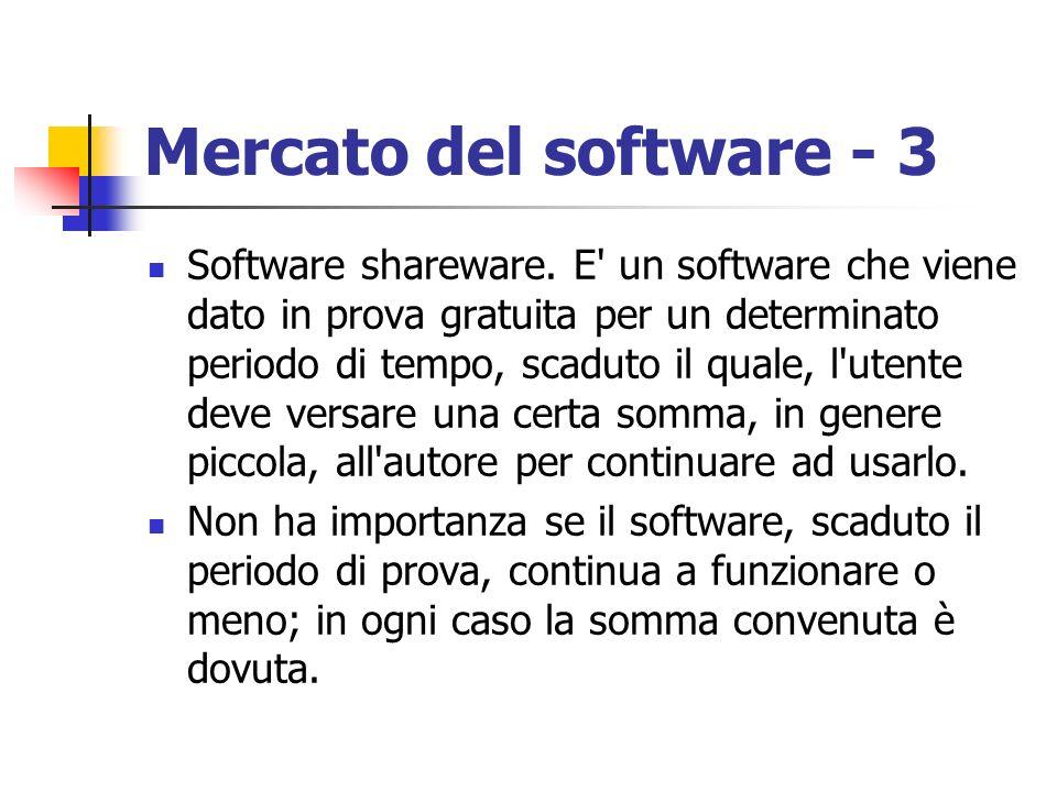 Mercato del software - 3