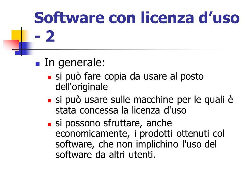 Software con licenza d'uso - 2