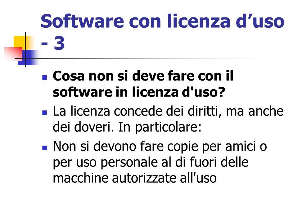 Software con licenza d'uso - 3