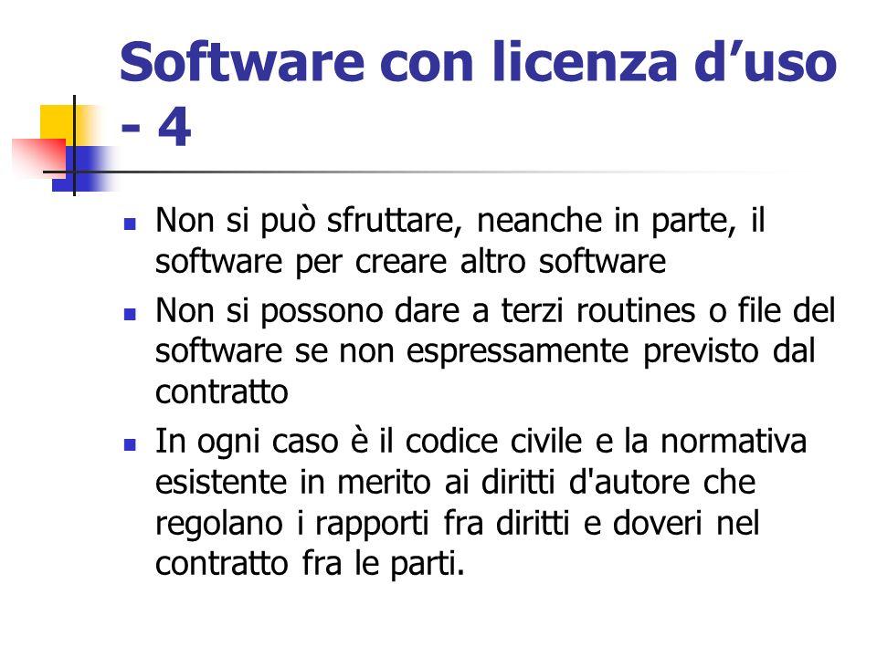 Software con licenza d'uso - 4