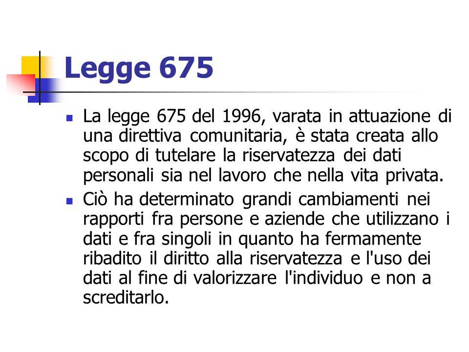 Legge 675