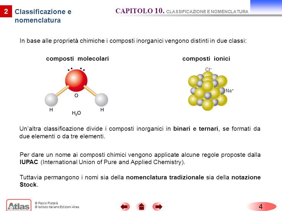 Classificazione e nomenclatura