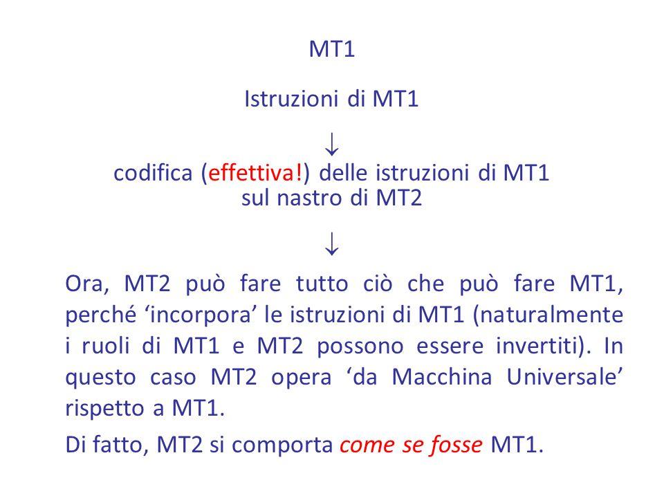 codifica (effettiva!) delle istruzioni di MT1