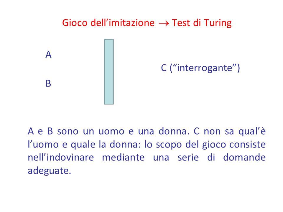 Gioco dell'imitazione  Test di Turing