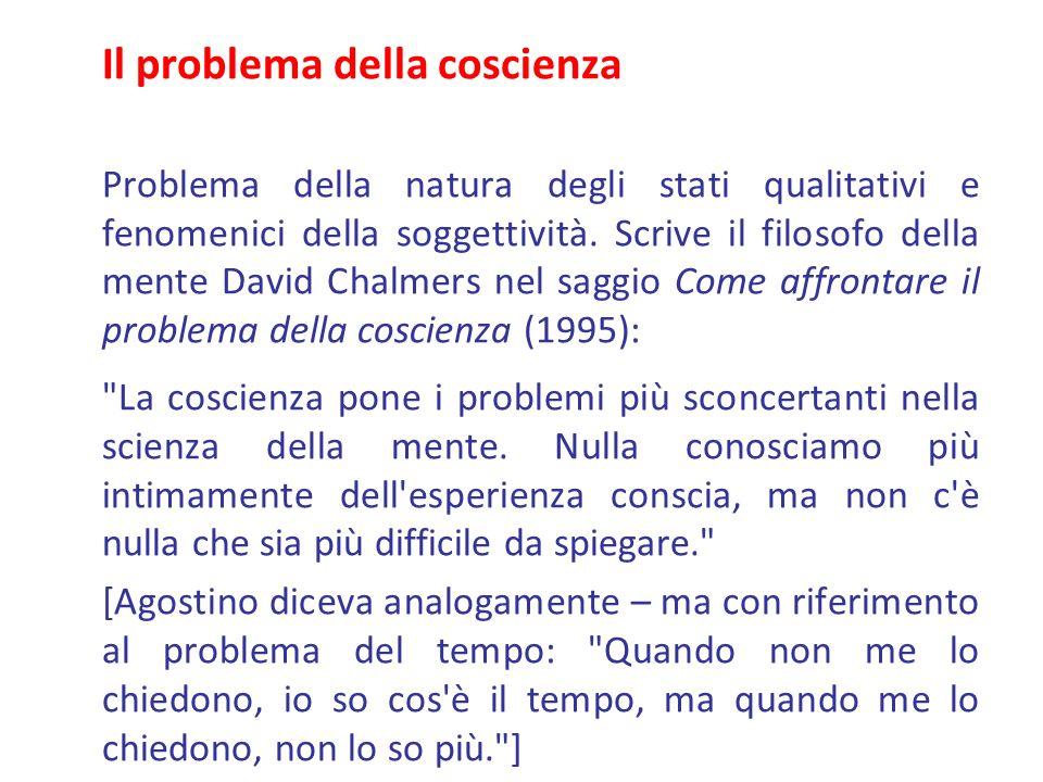 Il problema della coscienza