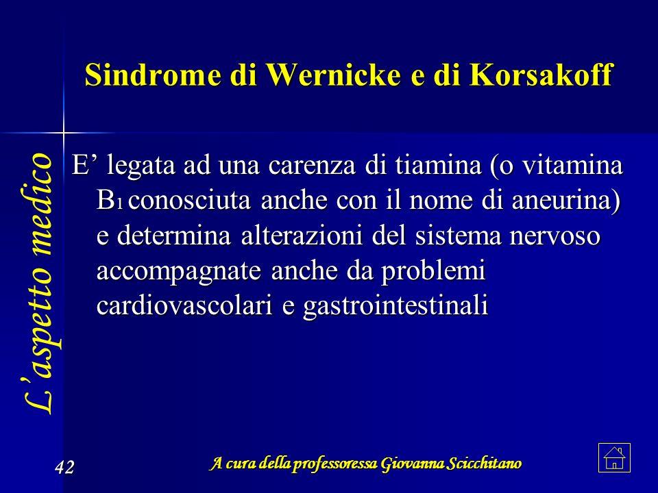 Sindrome di Wernicke e di Korsakoff