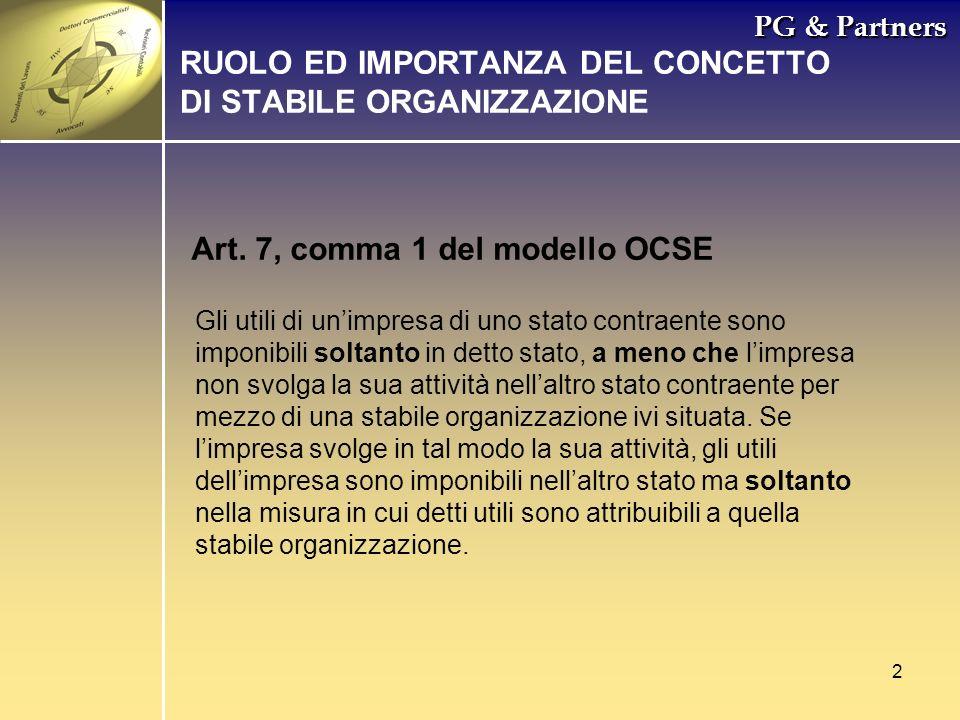 RUOLO ED IMPORTANZA DEL CONCETTO DI STABILE ORGANIZZAZIONE