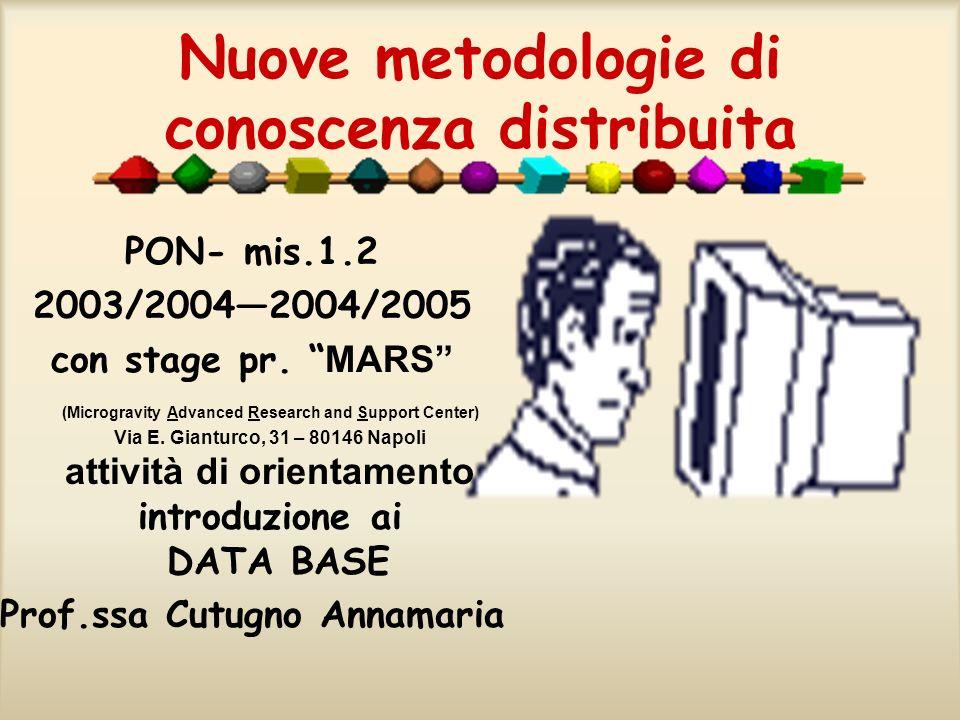 Nuove metodologie di conoscenza distribuita
