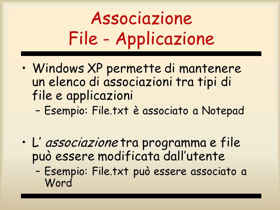 Associazione File - Applicazione